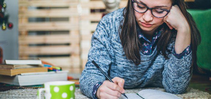 Beautiful-Student-doing-a-homework