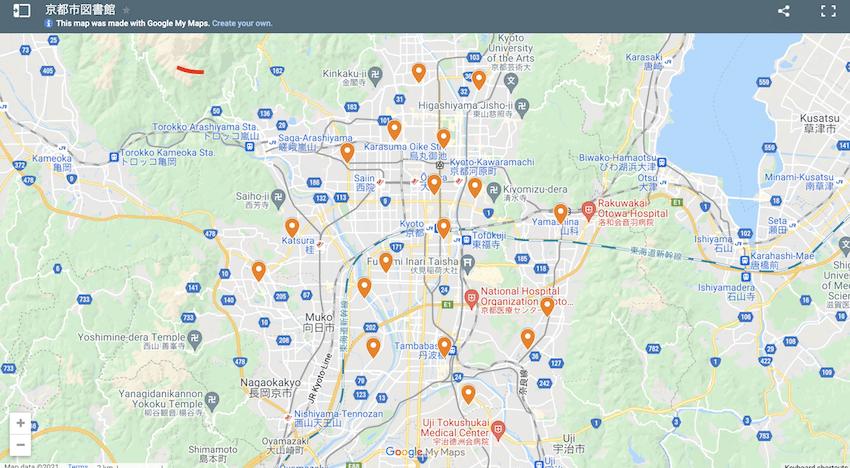 京都市図書館マップ